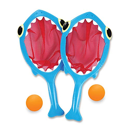 Melissa & Doug Sunny Patch Spark Shark Toss and Catch Net Pool Game With 2...