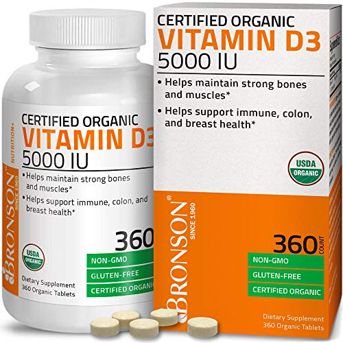 Bronson Vitamin D3 5,000 IU (1 Year Supply) for Immune Support, Healthy...