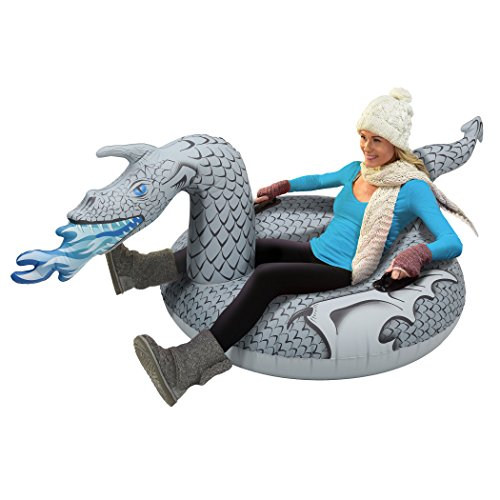 GoFloats Winter Snow Tube - Inflatable Toboggan Sled for Kids and Adults...