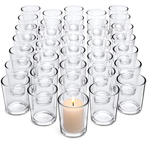 Letine Clear Glass Tealight Candle Holder - Glass Votive Candle Holders...