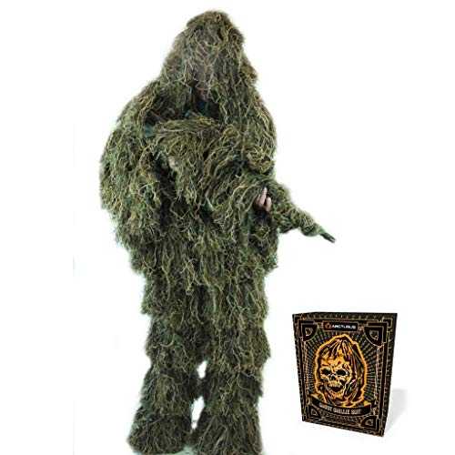 Arcturus Ghost Ghillie Suit: Woodland Camo | Double-Stitched Design with...