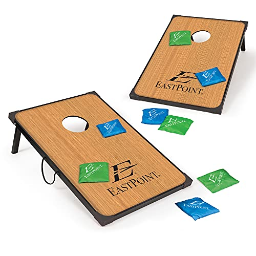 EastPoint Sports Cornhole Game Set Bean Bag Toss MDF - 2' x 3' Boards and 8...
