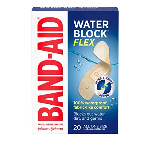 Band-Aid Brand Water Block Flex Adhesive Bandages, All One Size, 20 Count