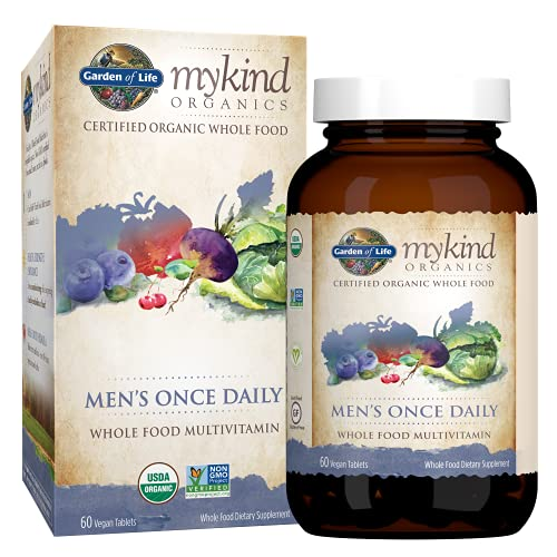 Garden of Life Multivitamin for Men - mykind Organic Men's Once Daily Whole...