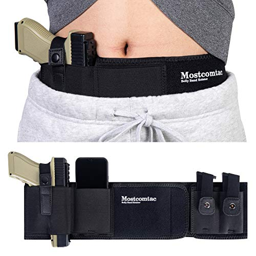 Belly Band Holster for Concealed Carry - Mostcomtac Gun Holsters for Men...