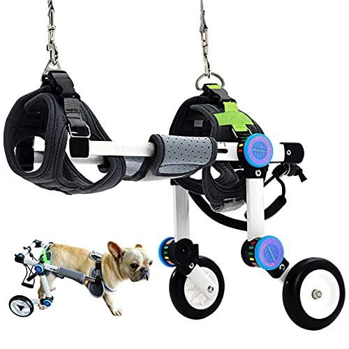 HobeyHove Adjustable Dog Wheelchair,Fordable Dog Wheelchair for Back...