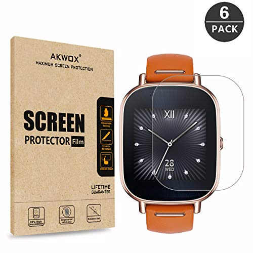 AKWOX [6-Pack] Screen Protector for ASUS ZenWatch 2-1.45 Inch, Full...