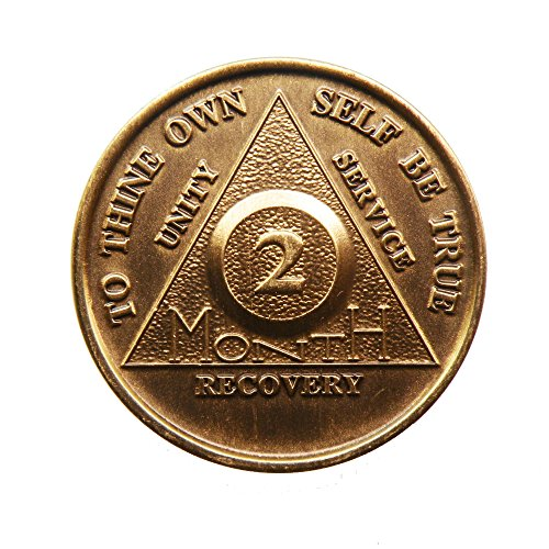 2 Month Bronze AA (Alcoholics Anonymous) - Sober / Sobriety / Birthday /...
