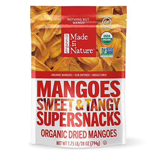 Made in Nature Organic Dried Fruit, Mangoes, 28oz Bag – Non-GMO,...
