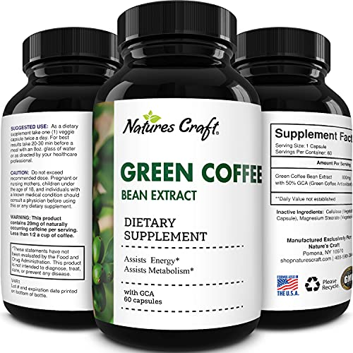 Pure Green Coffee Bean Extract - Green Coffee Extract with 50% Chlorogenic...