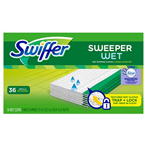 Swiffer Sweeper Wet Mopping Cloth Multi Surface Refills, Febreze Lavender...