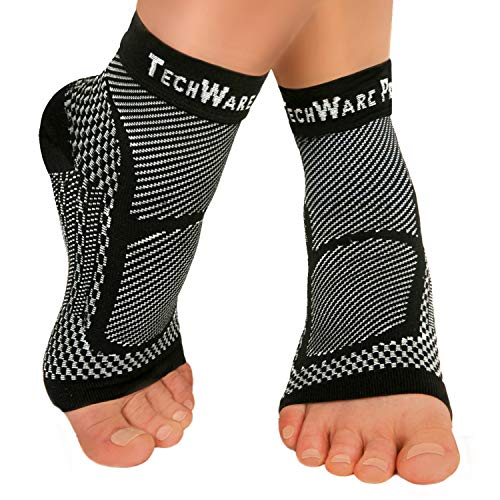 TechWare Pro Ankle Brace Compression Sleeve - Relieves Achilles Tendonitis,...