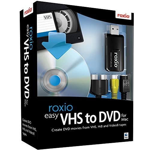 Roxio Easy VHS to DVD for Mac | VHS, Hi8, V8 Video to DVD or Digital...