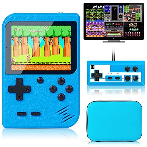 Retro Handheld Game Console with Protector Case, 400 Free Classical FC...