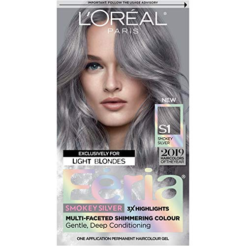 L'Oreal Paris Feria Multi-Faceted Shimmering Permanent Hair Color, Smokey...