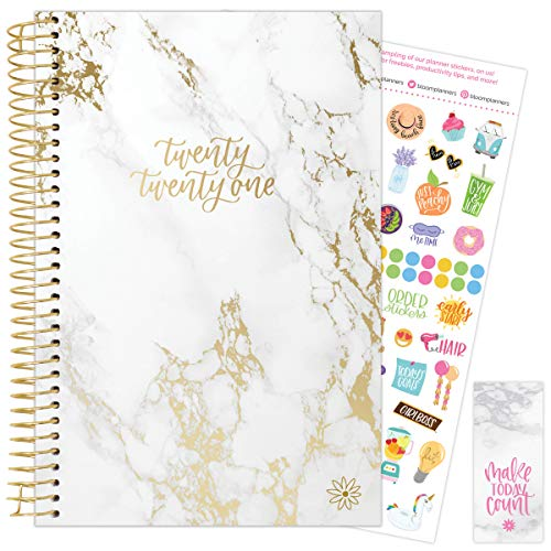 bloom daily planners 2021 Calendar Year Day Planner (January 2021 -...