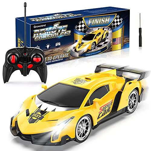 Growsland Remote Control Car, RC Cars Xmas Gifts for Kids 1/18 Electric...