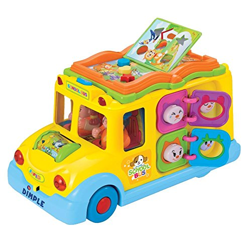 Educational Interactive School Bus Toy with Tons of Flashing Lights,...