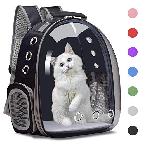 Henkelion Cat Backpack Carrier Bubble Carrying Bag, Small Dog Backpack...
