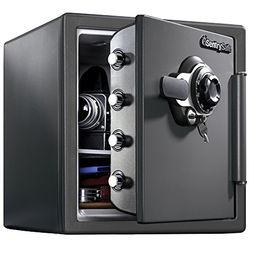SentrySafe SFW123DSB Fireproof Safe and Waterproof Safe with Dial...