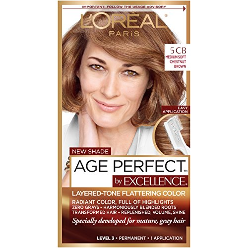 L'Oreal Paris ExcellenceAge Perfect Layered Tone Flattering Color, 5CB...