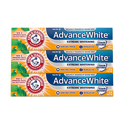 ARM & HAMMER Advanced White Extreme Whitening Toothpaste, TRIPLE PACK...