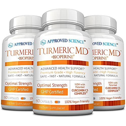 Approved Science® Turmeric MD - with BioPerine & 95% Standardized Turmeric...