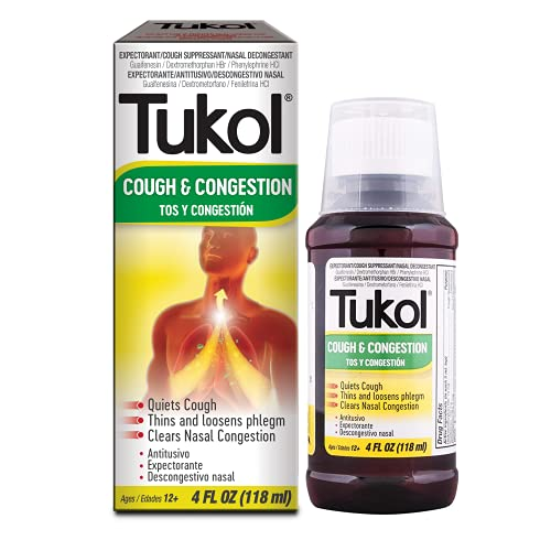 TUKOL Cough and Congestion Cold Syrup - Fast Acting Formula, Cough...