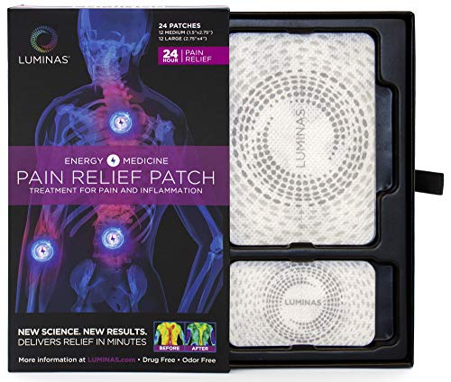 Relief Patches Charged by LUMINAS, Fast Acting and Long Lasting, 24 Pack...