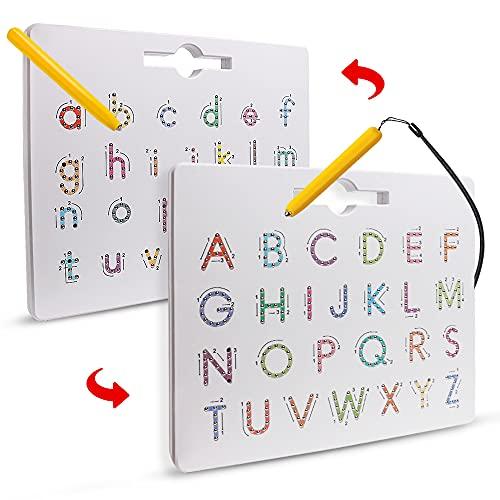 Double Sided Magnetic Letter Tracing Board Alphabet Magnet Drawing Board...