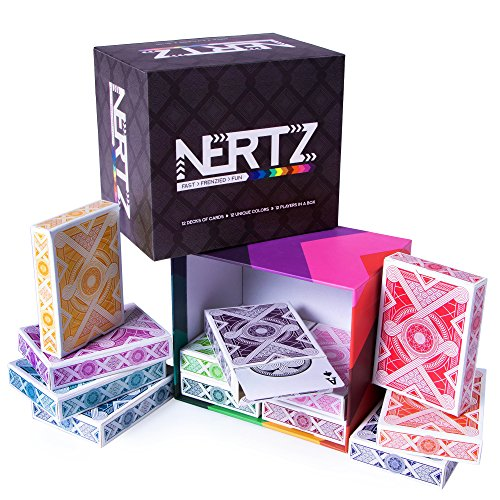Brybelly Nertz: The Fast Frenzied Fun Card Game - 12 Decks of Playing Cards...