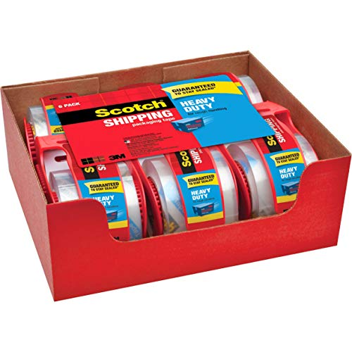 Scotch Heavy Duty Packaging Tape, 1.88' x 22.2 yd, Designed for Packing,...