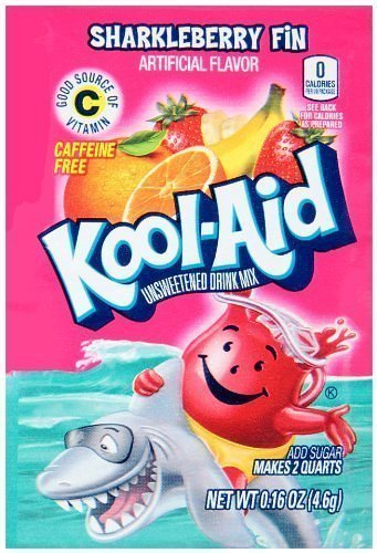 KOOL-AID SHARKLEBERRY FIN Unsweetened Drink Mix (12 Packets) by Kool-Aid