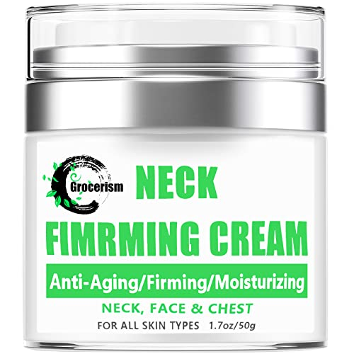 Grocerism Neck Cream for Anti-aging, Anti-Wrinkle, Firming and Moisturizing...