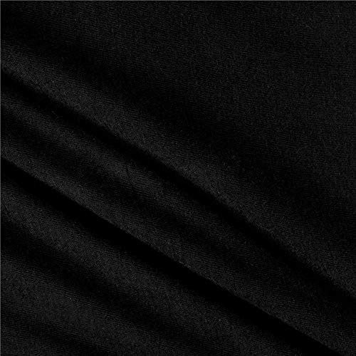 Rayon Spandex Stretch Jersey Knit Solid Black, Fabric by the Yard