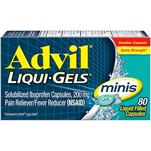 Advil Liqui-Gels minis Pain Reliever and Fever Reducer, Pain Medicine for...
