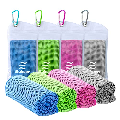 [4 Pack] Cooling Towel (40'x12'), Ice Towel, Soft Breathable Chilly Towel,...