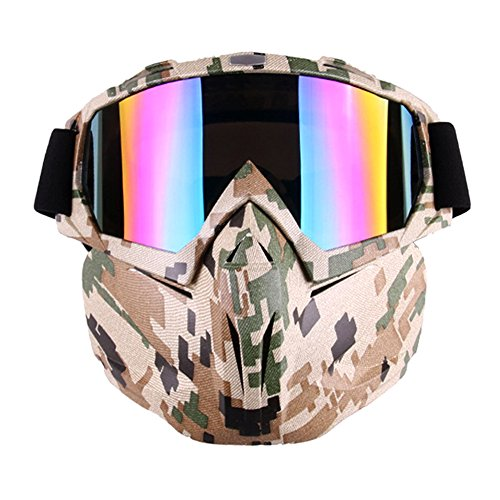 Outamateur Motorcycle Goggles Mask - Tactical Glasses with Detachable Mask...