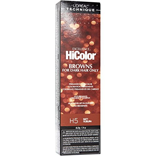 L'Oreal Excellence HiColor Browns H5 Soft Auburn 1.74 oz (Packs of 2)