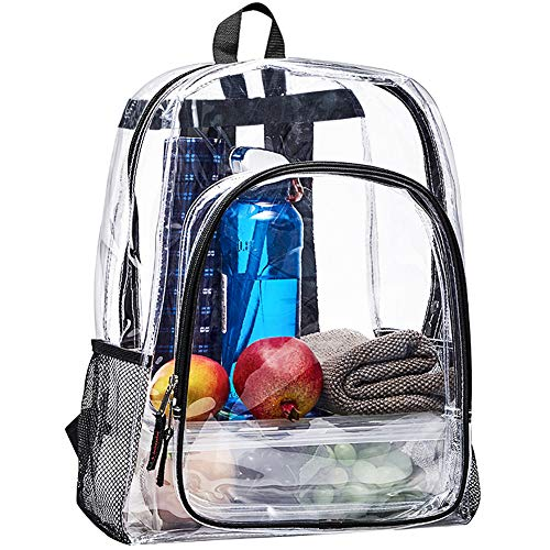 Heavy Duty Clear Backpack, Large Transparent Clear Bookbag, See Through...