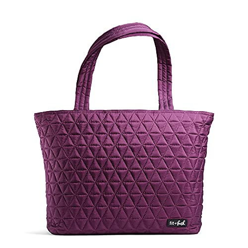 Fit & Fresh Metro-Tote 2 in 1 Quilted 15' Laptop Bag with Insulated Lunch...
