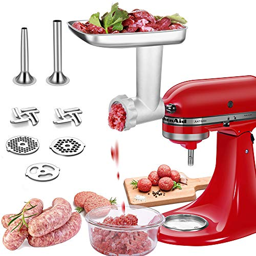 Stainless steel Food Grinder Attachments for Kitchenaid Stand Mixers with 2...