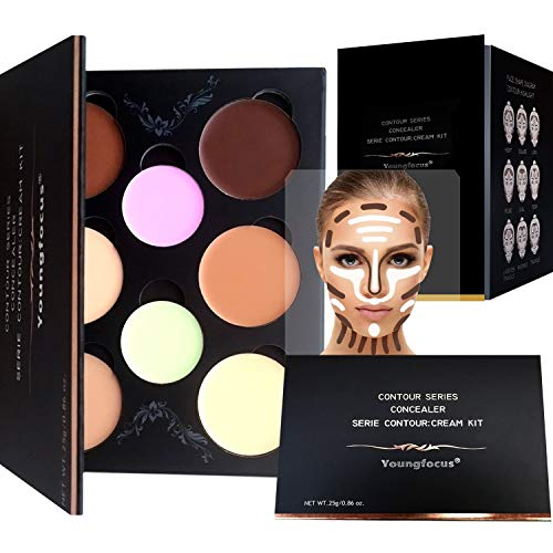 Youngfocus Cosmetics Cream Contour Best 8 Colors and Highlighting Makeup...