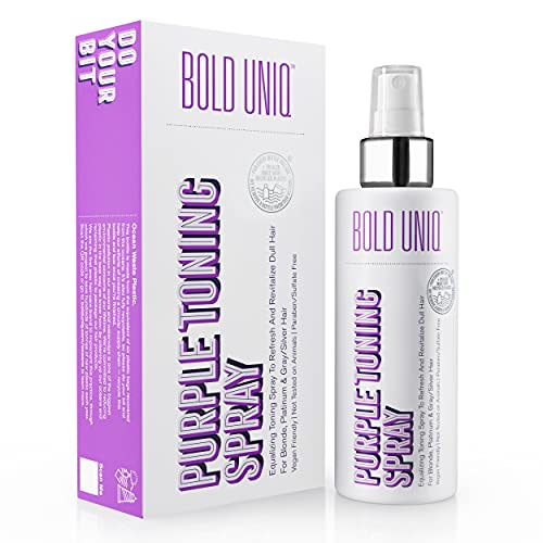 Blonde Toner Spray. Purple Leave In Toning Hair Treatment to Remove Brassy...