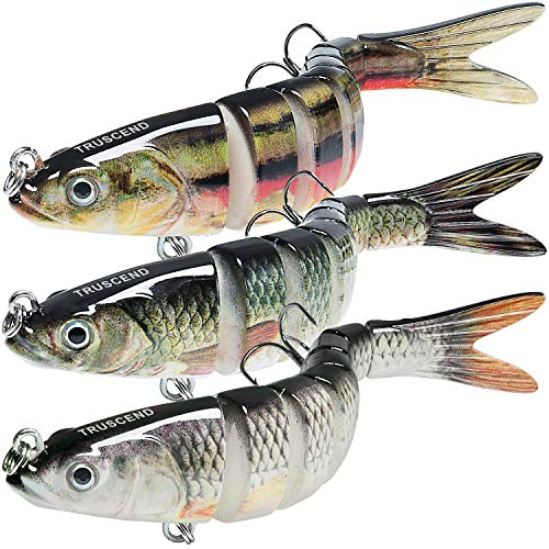 TRUSCEND Fishing Lures for Bass Trout Multi Jointed Swimbaits Slow Sinking...