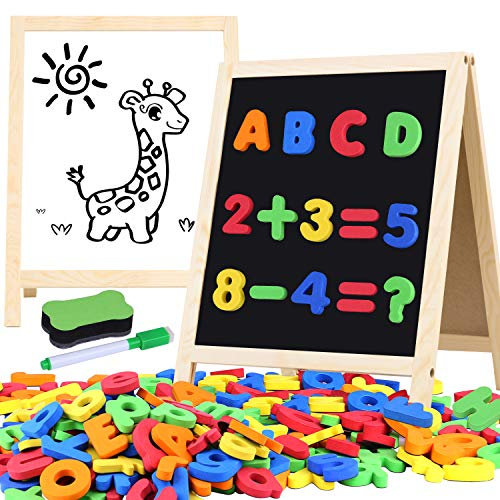 Magnetic Letters and Numbers for Toddlers with Easels, 133 Pcs ABC...