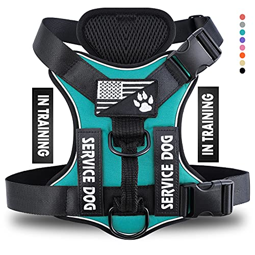 Demigreat Service Dog Harness, No-Pull Reflective Dog Vest Harness with 5...