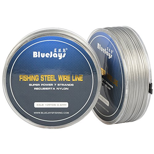 100 Metres 33 Pound 0.6mm Fishing Stee Wire Nylon Coated 1x7 Stainless...