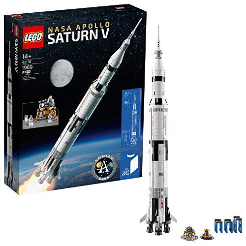 LEGO Ideas NASA Apollo Saturn V 92176 Outer Space Model Rocket for Kids and...