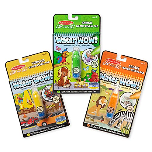 Melissa & Doug On the Go Water Wow! Reusable Water-Reveal Activity Pads,...